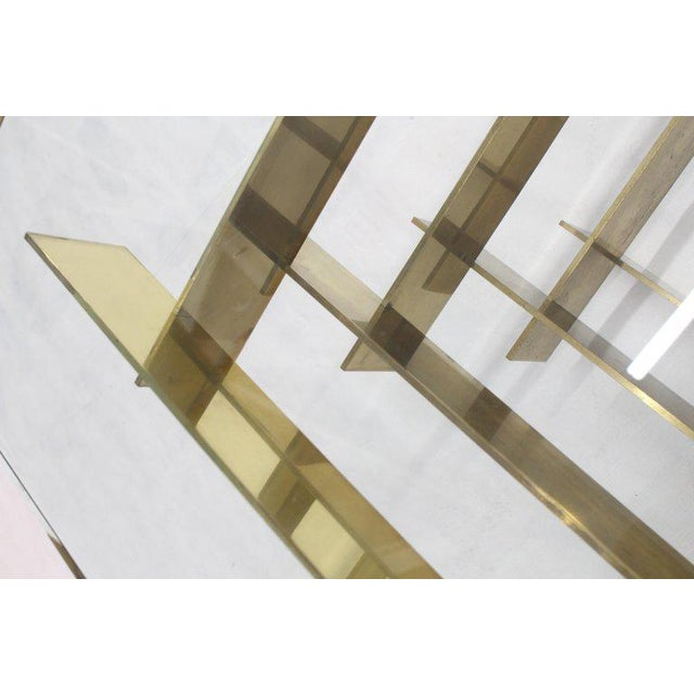1970s 1970s Mid-Century Modern Bronze Base Glass Top Square Coffee Table For Sale - Image 5 of 12