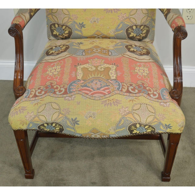 Smith & Watson Hepplewhite Mahogany Pair Open Armchairs For Sale - Image 9 of 13