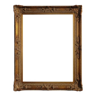 "60""h X 48"" Vintage French Provincial Gold Picture Frame For Sale"