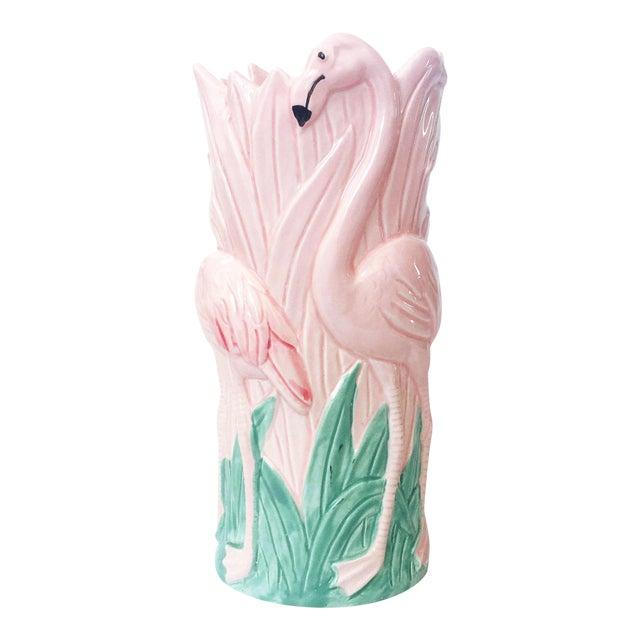 Vintage Pink Flamingo Vase For Sale