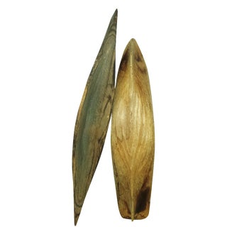 Antique Hand-Hewn Canoe Boat Hulls - a Pair For Sale