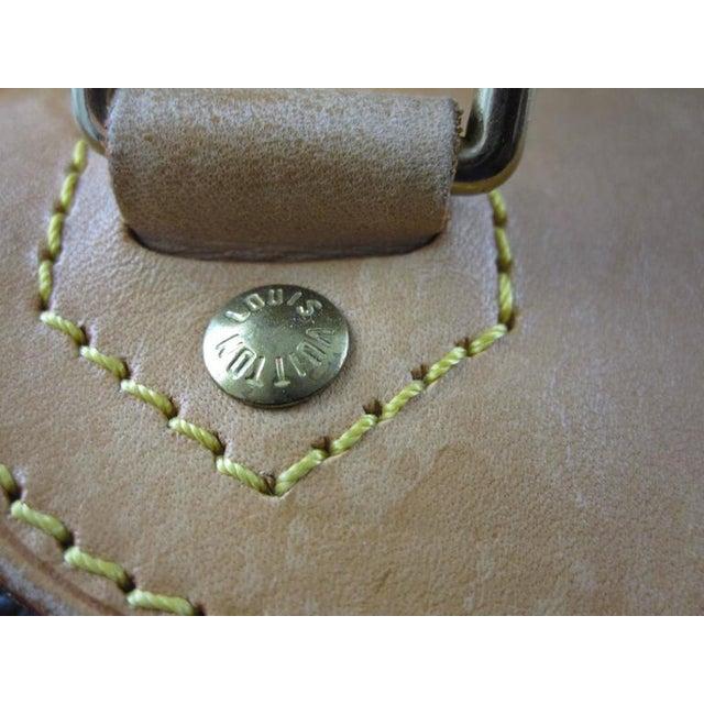 Animal Skin Louis Vuitton Vintage LV Monogram Excursion Travel Shoe Bag W/ Padlock & Dustbag For Sale - Image 7 of 11