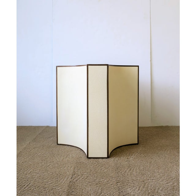 Contemporary Shagreen Esque Side Table For Sale In New York - Image 6 of 10