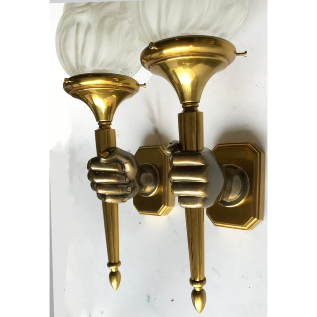 Vintage Opposite Hand Maison Bagues Sconces - A Pair - Image 2 of 5