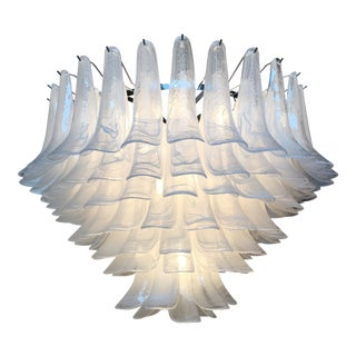 """Vintage Style Murano Glass """"Selle"""" Chandelier For Sale"""