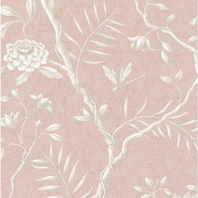 "Lewis & Wood Jasper Peony Roan Bespoke Extra Wide 52"" Botanic Style Wallpaper For Sale - Image 4 of 4"