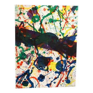 Poem in the Sky By Sam Francis Lithograph, Framed For Sale