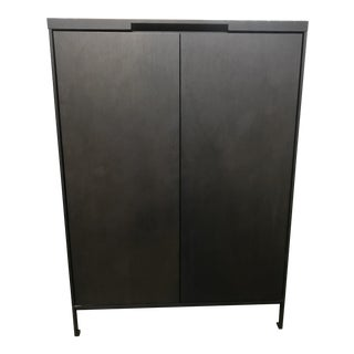 Contemporary Camerich Tall Wood Cabinet For Sale