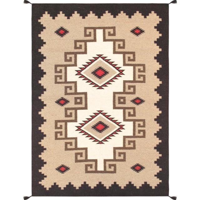 "Navajo Decorative Hand-Woven Rug - 4'10"" X 7'1"" - Image 1 of 3"