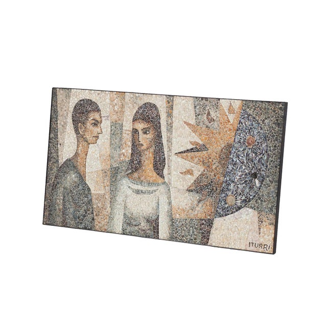 Mid-Century Modern Mosaïc Artwork in Shell by Manuel Iturri For Sale - Image 3 of 9
