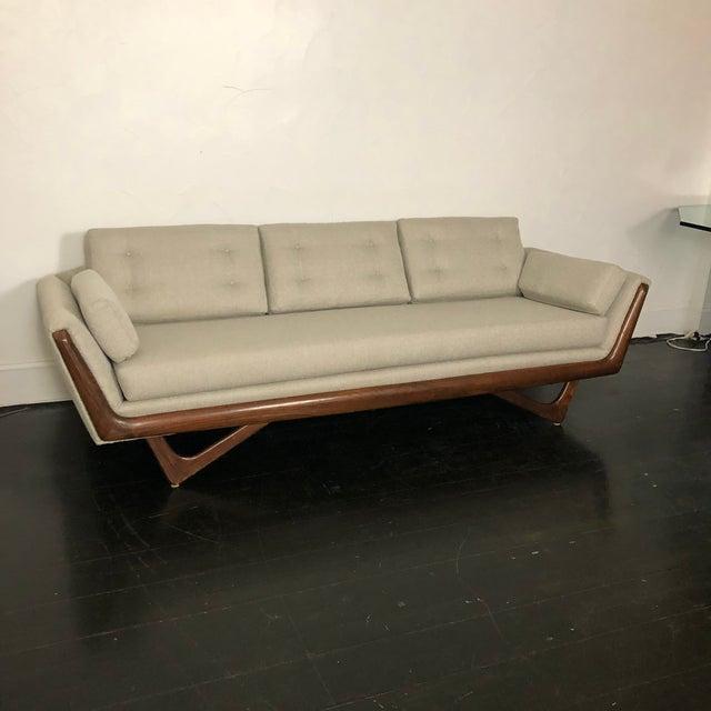 Mid-Century Modern 1960s Restored Adrian Pearsall Gondola Sofa For Sale - Image 3 of 13