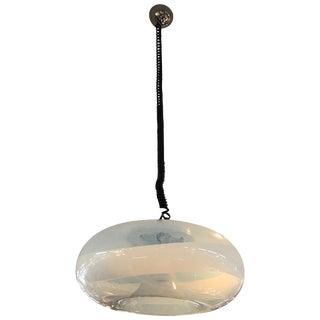 Italian 1970s Modern Hand Blown Murano Glass Pendant Light For Sale