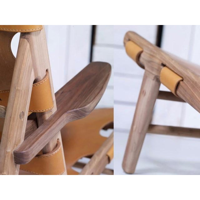 Brown Borge Mogensen Inspired Hunting Chairs - a Pair For Sale - Image 8 of 9