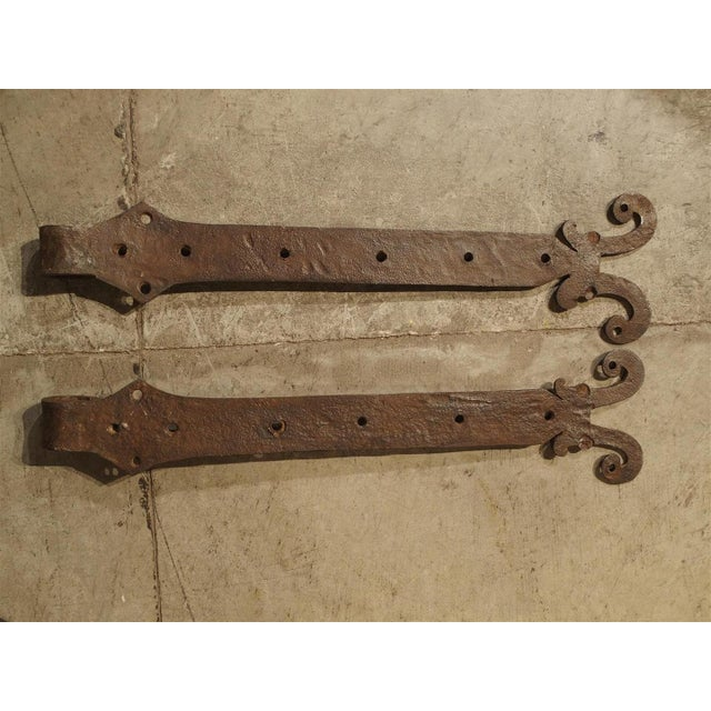 Pair of 15th Century Iron Door Straps from France For Sale In Dallas - Image 6 of 9