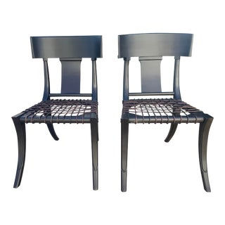 Mid Century Modern Style Klismos Chairs - a Pair For Sale