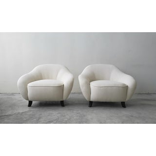 Oversized Pair of Mid Century Lounge Chairs Preview