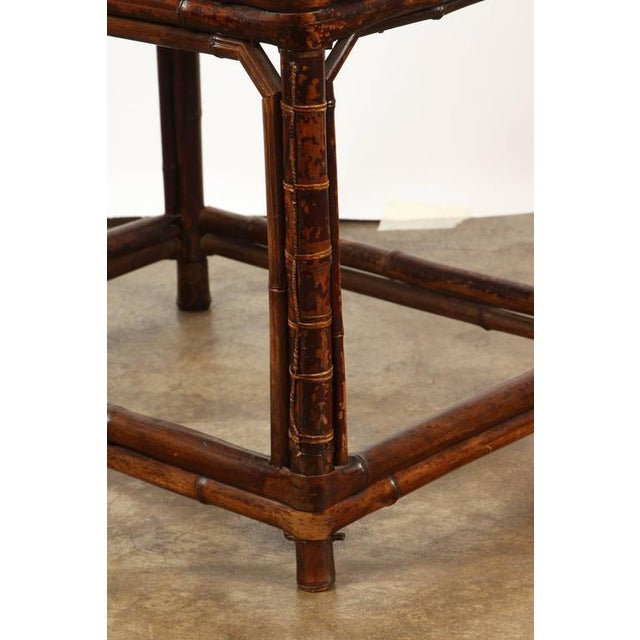 Late 19th Century 19th Century Chinese Bamboo Arm Chair For Sale - Image 5 of 9