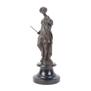 Early 20th Century Antique Artemis Diana Goddess Sculpture For Sale
