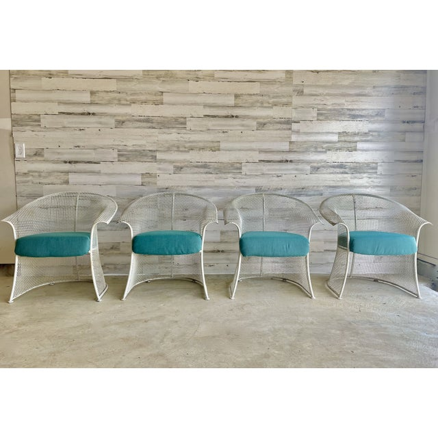 Mid Century Wire Formed Patio Set For Sale In Dallas - Image 6 of 13