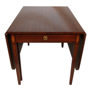 Georgian Solid Mahogany Drop-Leaf Table For Sale
