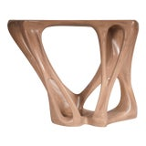 Amorph Petra Console Table in Antique Oak Stain For Sale