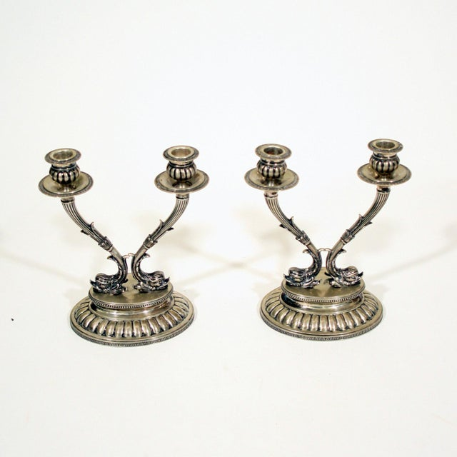 Metal A Pair of 18th Century Silver Candle Holders For Sale - Image 7 of 7
