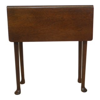 Diminutive Drop Leaf Mahogany Occasional Table For Sale