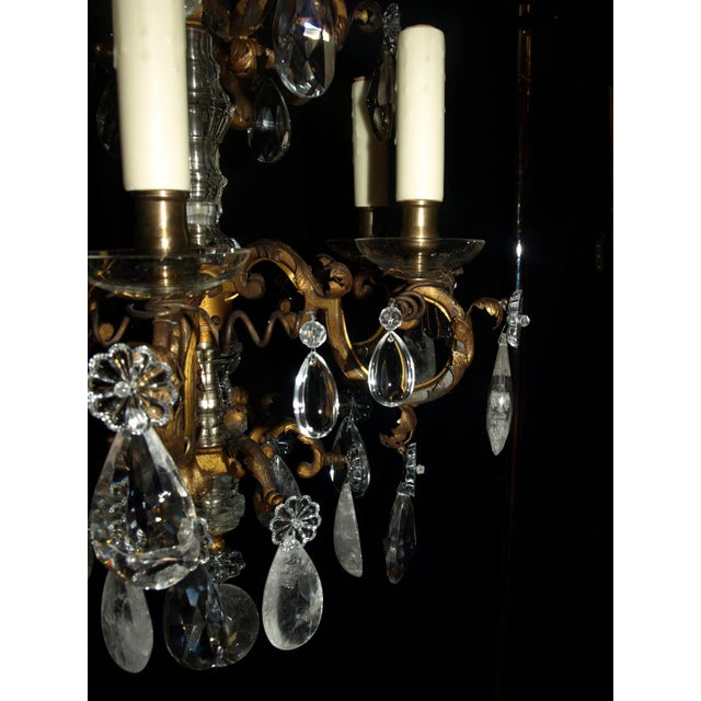Early 20th Century Antique Chandelier. Elegant Louis XV Chandelier For Sale - Image 5 of 7