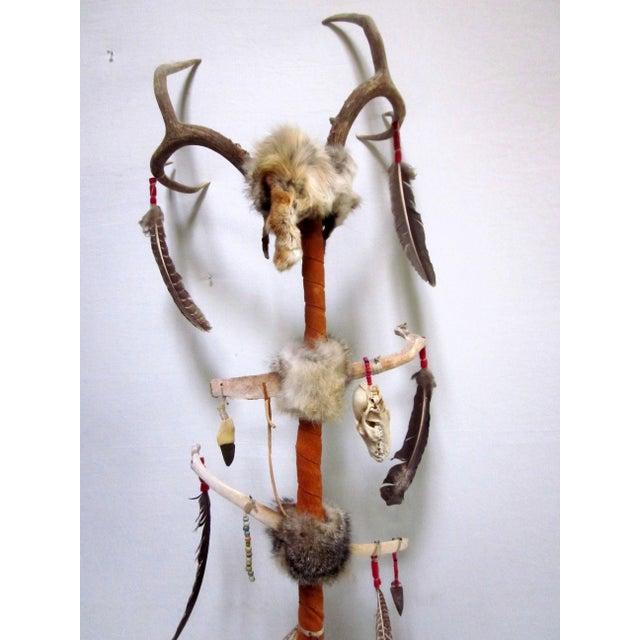 Vintage Native American Ceremonial Walking Stick - Image 8 of 8