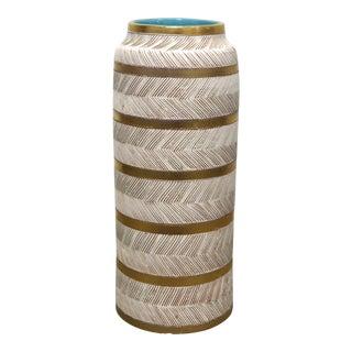 Vintage Bitossi Italian Mid Century Modern Ceramic Vase For Sale