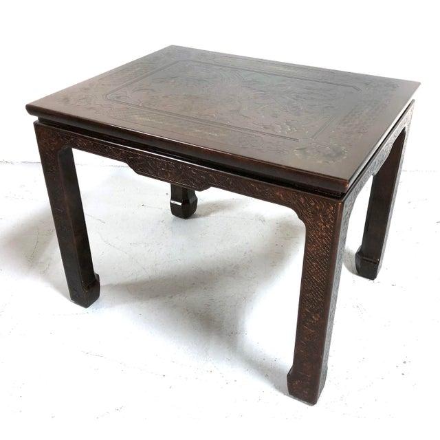 Asian Mario Buatta for John Widdicomb Chinoiserie Coffee Table For Sale - Image 3 of 13