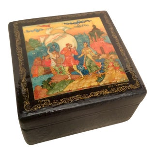 Russian Lacquered Trinket Box