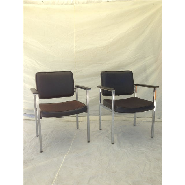 All Steel Co. Office Club Chairs - A Pair - Image 6 of 8