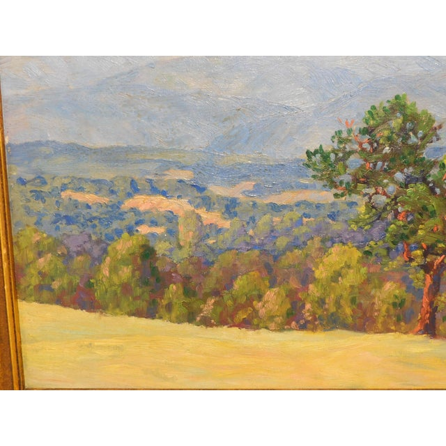 """Wood Edward Walker Oil Painting on Canvas """"Mt. Moosalamoo, Green Mountains North of Brandon"""" For Sale - Image 7 of 13"""