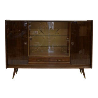 Italian Storage Cabinet/Sideboard in Striped Mahogany For Sale