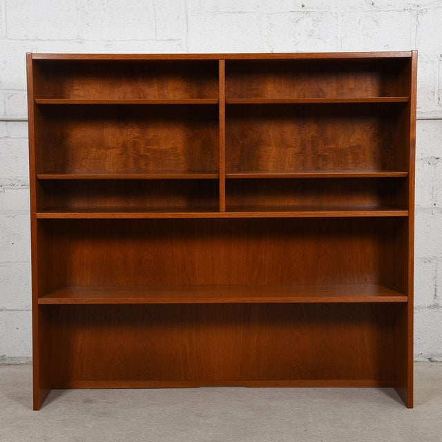 2-Piece Danish Teak Bookcase & Cabinet with Drawers and Bi-Fold Door - Image 6 of 7