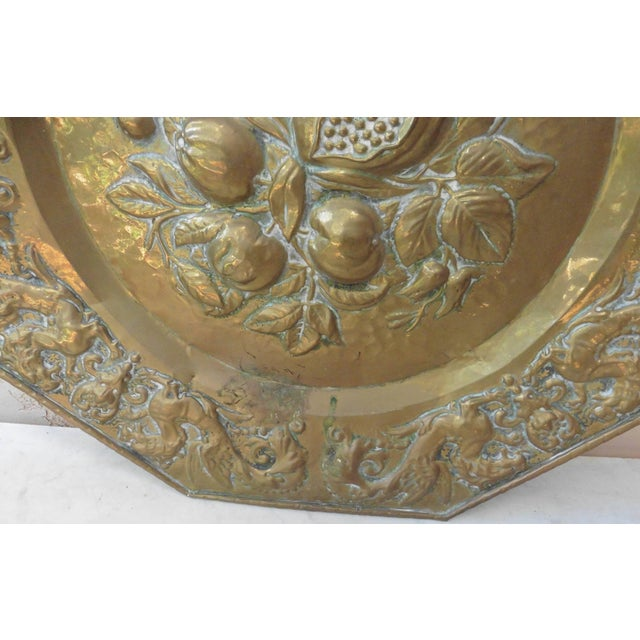 19th Century French Brass Fruits Platter For Sale - Image 4 of 6