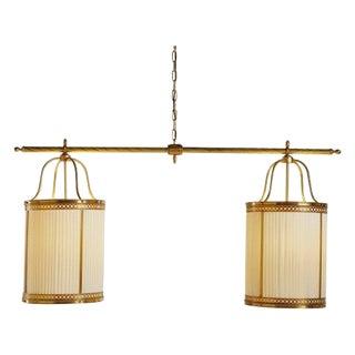 Baker Furniture - Double Lyre Lantern Chandelier For Sale