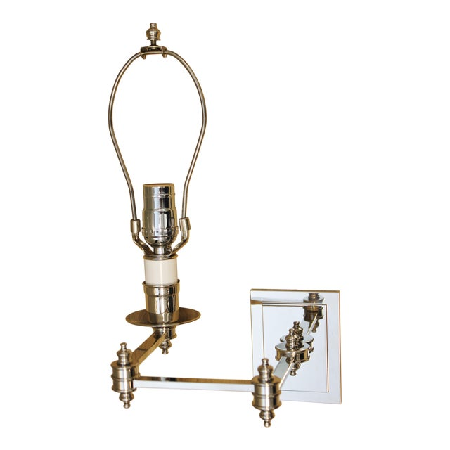 Ann Morris St. James Polished Nickel Swing Arm Sconce For Sale