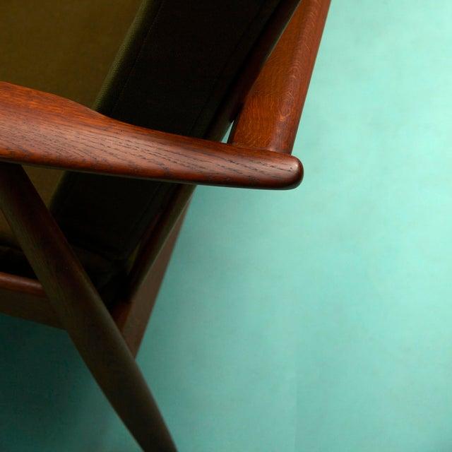 Wood 1960s Hans Wegner Cigar Sofa For Sale - Image 7 of 11