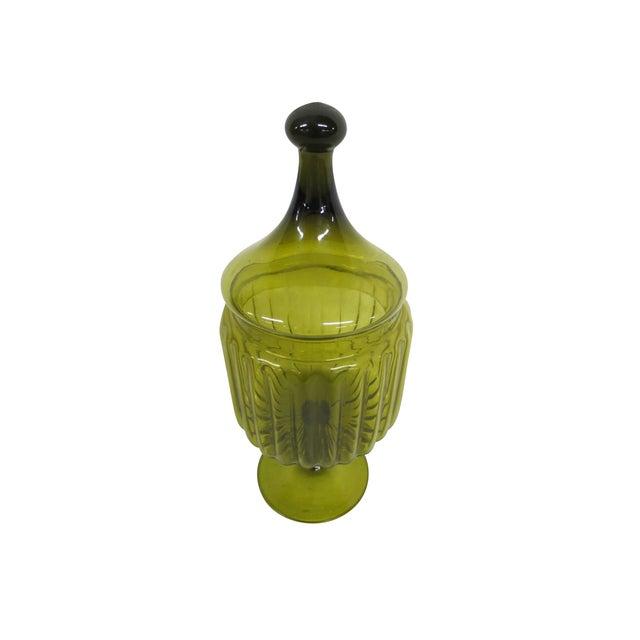 Green Glass Bon-Bon Dish - Image 2 of 5