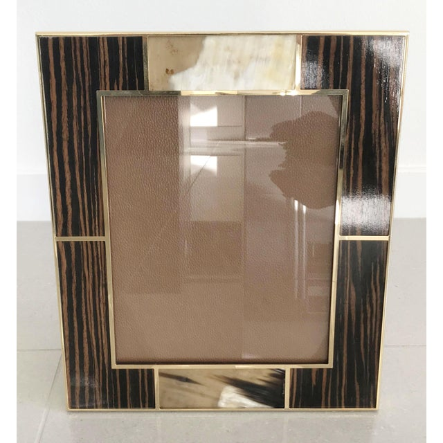 Early 21st Century Brown Macassar With Buffalo Horn Photo Frames For Sale - Image 5 of 10