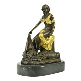 Bronze Classical Statue on Marble Base For Sale