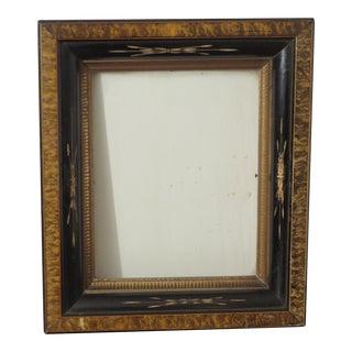 Antique Eastlake Ebonized Picture Frame