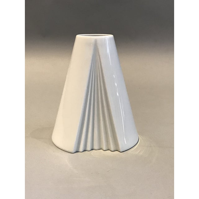 Ambrogio Pozzi, Rosenthal Geometric Op Art Lady's Gown Porcelain Vase For Sale - Image 9 of 9