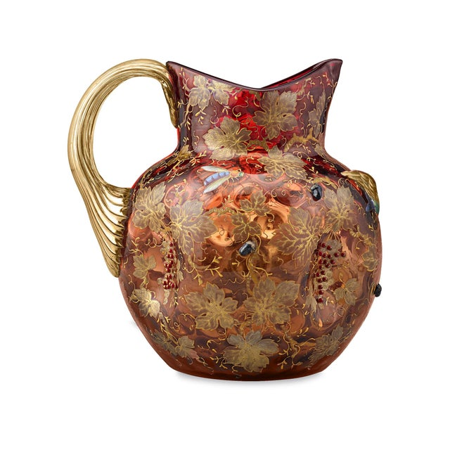 Moser Glassworks Moser Cranberry Glass Pitcher For Sale - Image 4 of 5