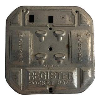 1935 Marvel Register Pocket Bank For Sale