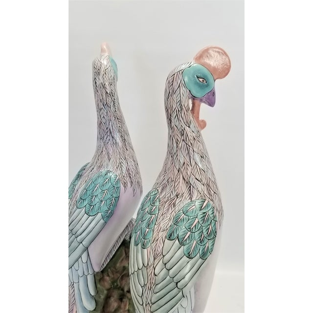 Phoenix Bird Statues - Super Large 17 Inches - Feng Shui - Asian Palm Beach Boho Chic Animals Tropical Coastal For Sale - Image 9 of 13