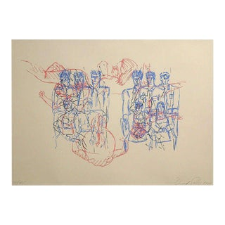 David Salle Lithograph on Paper, 1984 For Sale