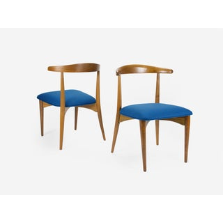 Mid Century Modern Walnut Dining Chairs by Lawrence Peabody- Set of 6 Preview